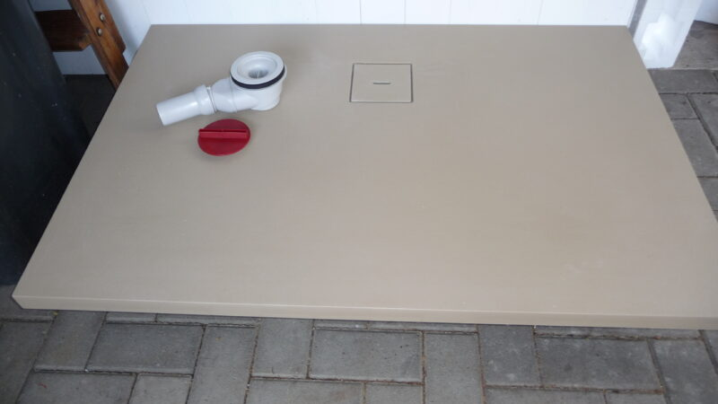 Duschwanne 80x120cm Mineralguss Sandfarben NEU