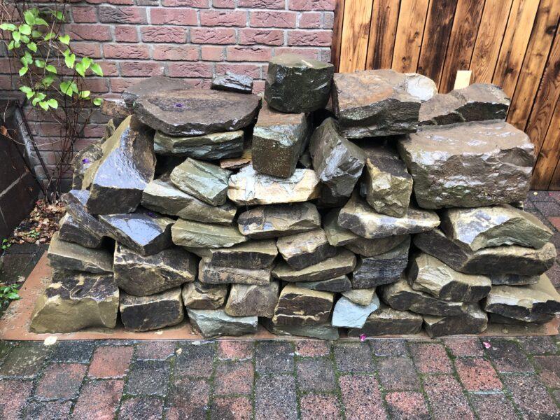 Mauersteine Bruchsteine  Grauwacke Naturstein