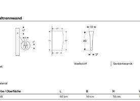 Geberit Urinaltrennwand/Schamwand