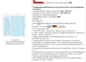 Terrassentür/Balkontürelement mit Seitenteil 2385mm x 2260mm x 70mm