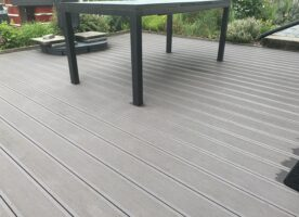 Kovalex Terrassendielen WPC Kammerprofil Antrazit mattiert grob / fein geriffelt 26 x 145 mm