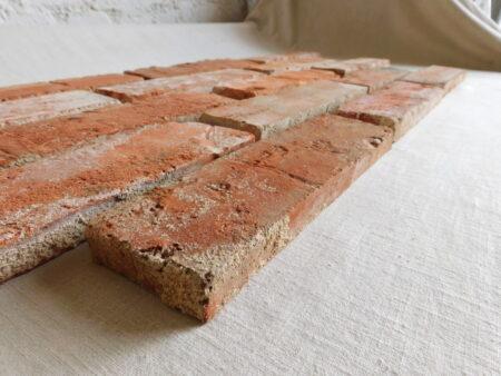 Handform Ziegel Riemchen Vintage rote Klinker Verblender Wand Reichsformat Feldbrand echte alte Back