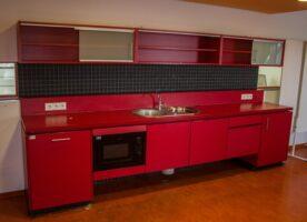 Einbauküche rot (3,60m breit)