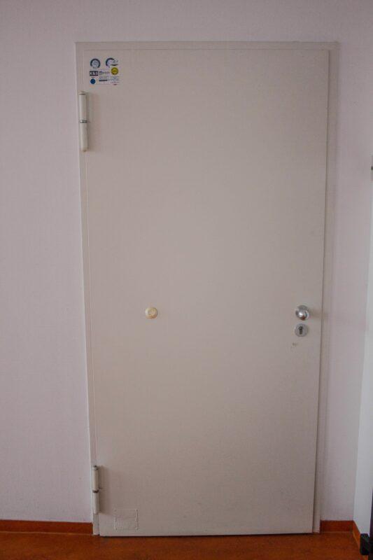 Hörmann Schallschutztür Stahl weiß DIN L, 90cm