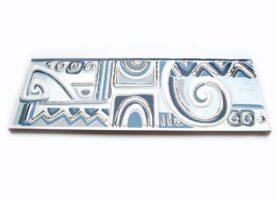 Fliesenbordüren Fliesenbordüre Azteka azul 20x7,3cm