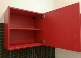 Einbauküche rot (2,50 m) Einrichtung, Einbauküche