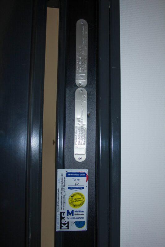 Promat Schallschutztür Stahl DIN L, 97cm
