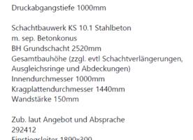 Pumpe und Schacht für Pumpensumpf LKT-Vario V-1-10-E50 F