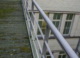 Flachstahlgeländer Geländer 120,50m, Stabgeländer (ausgebaut)