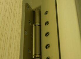 Badezimmertür Holzoptik DIN L