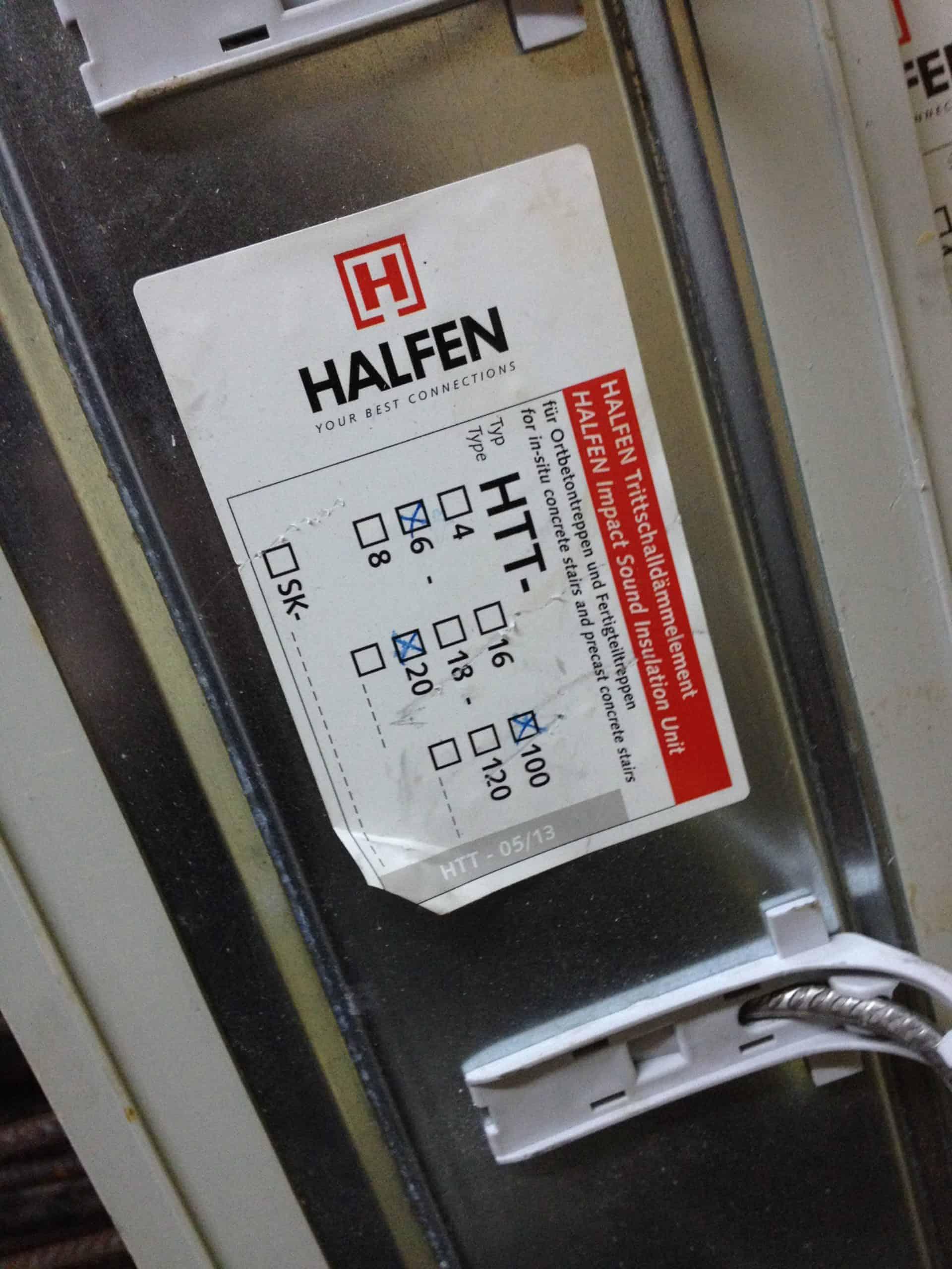 Halfen HIT-SP-MV- 1207 Balkonanschluss HTT Trittschalldämmelemente