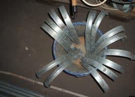 Zink Dachrinnenhaken gerade f. 333er Dachrinnen, 15cm Durchmesser, nur noch 4Stück