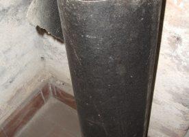 Abdeckpappe reißfest, robust, schwarz, ~7m x 1m