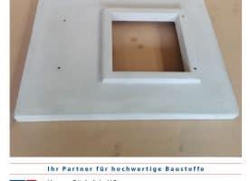 Kamin – Abdeckplatte – Außenmaß 1143/580 mm mit Aussparung 275/275 mm