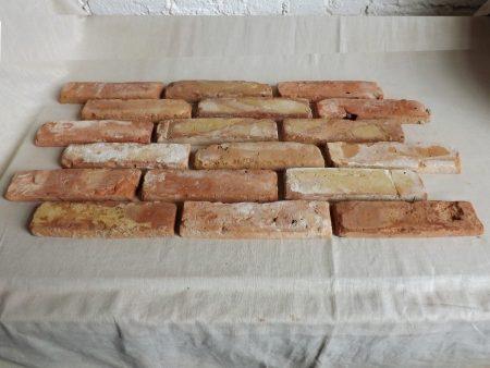 rot bunte Ziegel Verblendsteine Klinkerriemchen original Mauerziegel Backstein rustikal Loftoptik Steinwand Wandverkleidung Wandpaneele Ziegelwand Fliesen