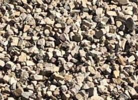 Kalkschotter 0 / 90 ( Gemisch aus 70 % Travertin, 15 % Sandstein, 15% Muschelkalkstein ) )