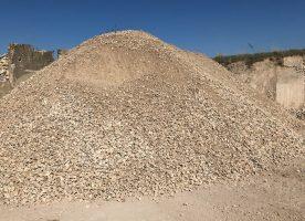 Kalkschotter 0 / 45 ( Gemisch aus 70% Travertin, 15% Sandstein, 15% Muschelkalkstein ))