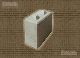 BBloxx-Schnellbaustein | 800 x 400 x 800 mm | Beton-Legostein, Betonblock, Beton-Stapelstein