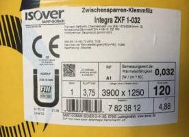 Isover Integra ZKF 1-032 120mm, Zwischensparrenklemmfilz