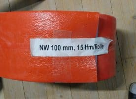 Rohrisolationsschlauch Abwasser rot 100mm