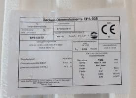 Karl Bachl Decken-Dämmelemente EPS 035 1000 x 500 x 100 mm N+F, Fase