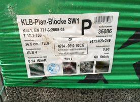 Plansteine, Mauersteine, Hohlblocksteine, Bimsbetonsteine KLB Plan Blöcke SW1