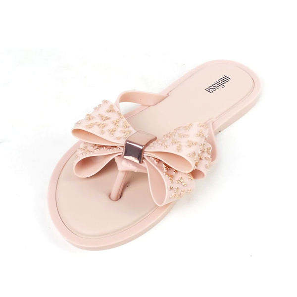 thumbnail 4 - Melissa Embellished Bow Thong Sandals Sweet Ad Rose Gold