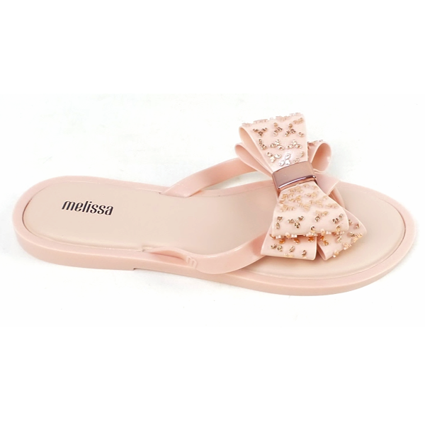 thumbnail 2 - Melissa Embellished Bow Thong Sandals Sweet Ad Rose Gold