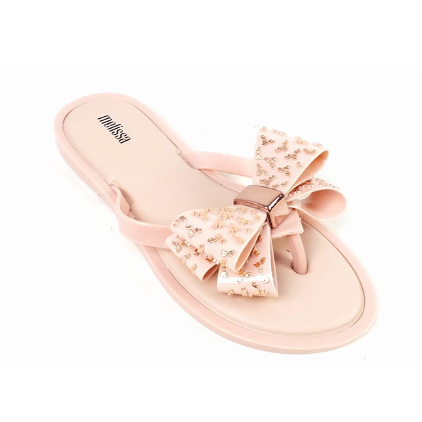 thumbnail 3 - Melissa Embellished Bow Thong Sandals Sweet Ad Rose Gold
