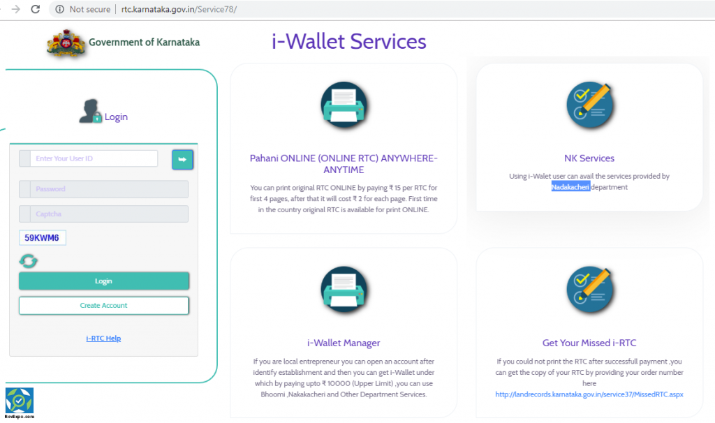 I-RTC wallet services