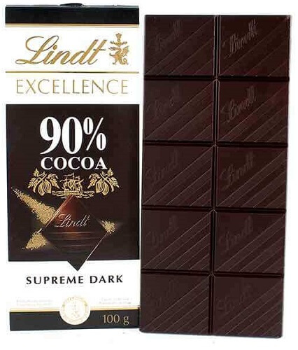 lindt excellence supreme 90% cocoa dark chocolate