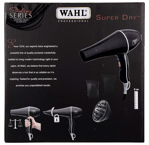 wahl 5439-024 super dry professional styling hair dryer