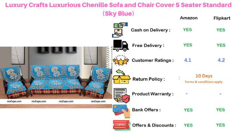 Luxury Crafts 5 Seater Standard Sofa and Chair Cover