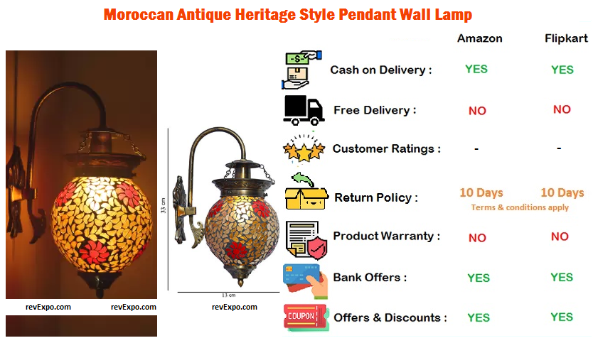 Moroccan Antique Heritage Style Wall Lamp