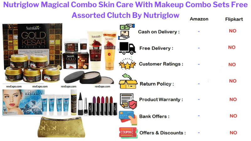 Nutriglow Makeup Magical Combo With Clutch