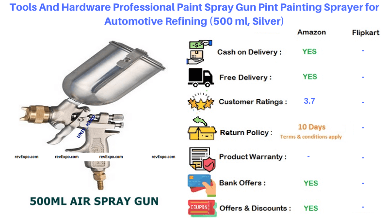 Tools And Hardware 500 m Silver Professional Painting Sprayer