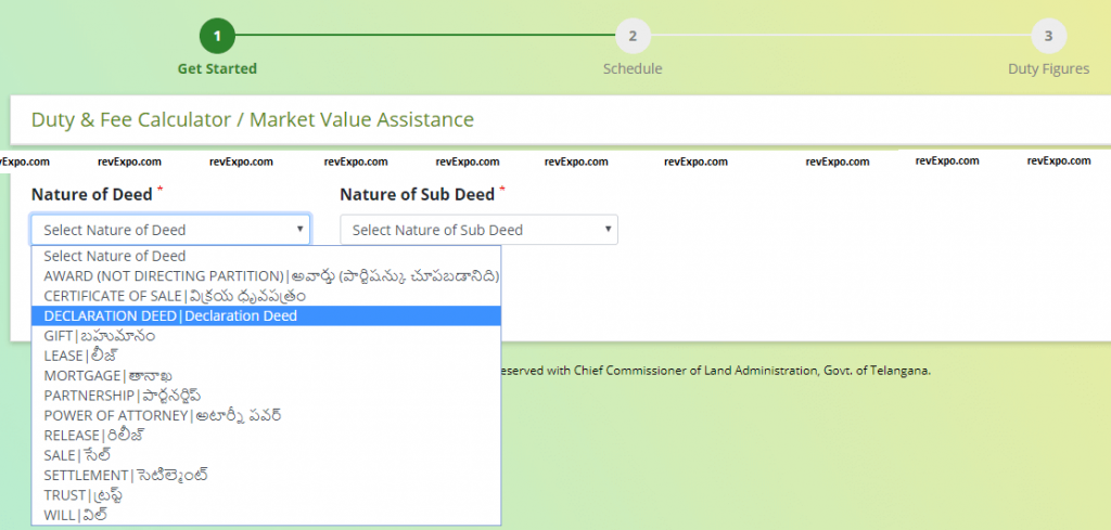 nature of deed for fee calculation