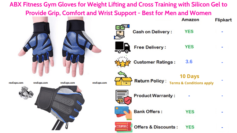 ABX Fitness Gym Gloves for Weight Lifting and Cross Training Best for Men and Women