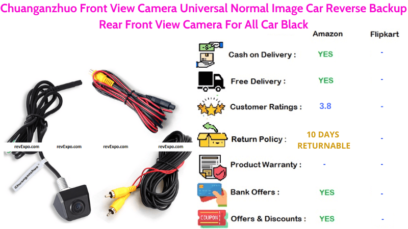 Chuanganzhuo Car Reverse Backup Camera with Universal Normal Image Rearview for all cars