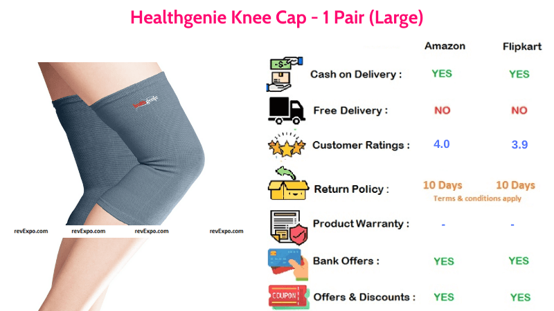 Healthgenie Knee Cap for Knee Support Large Pair