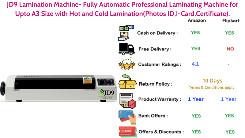 JD9 A3 Size Fully Automatic Professional Laminating Machine with Hot and Cold Lamination