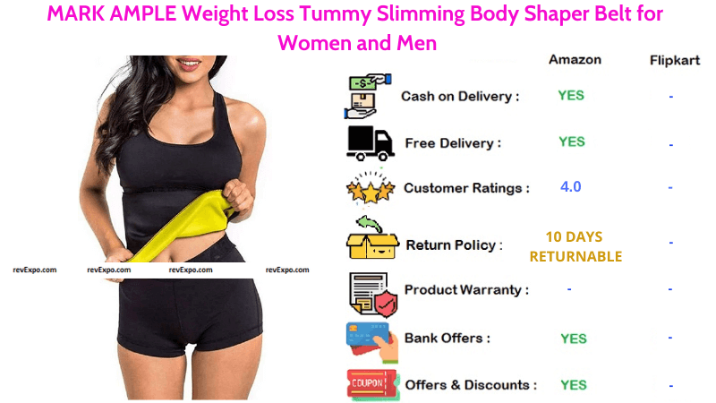 Mark Ample Sweat Slim Belt for Weight Loss, Body Shaping & Tummy Slimming for both Men & Women