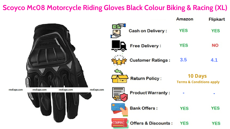 Scoyco Mc08 Bike Gloves for Motorcycle Riding & Racing
