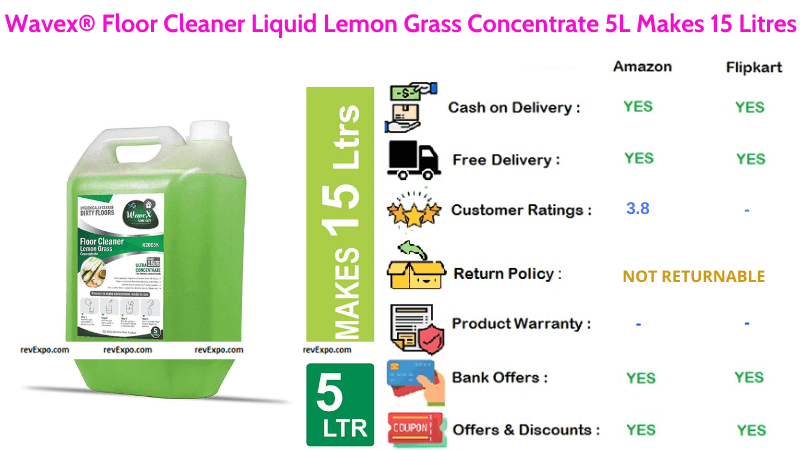 Wavex surface Cleaner with floor Concentrate 5L Liquid Lemon Grass