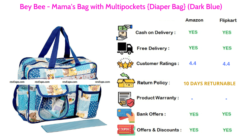 Bey Bee Diaper Bag with Multipockets Mamas Bag