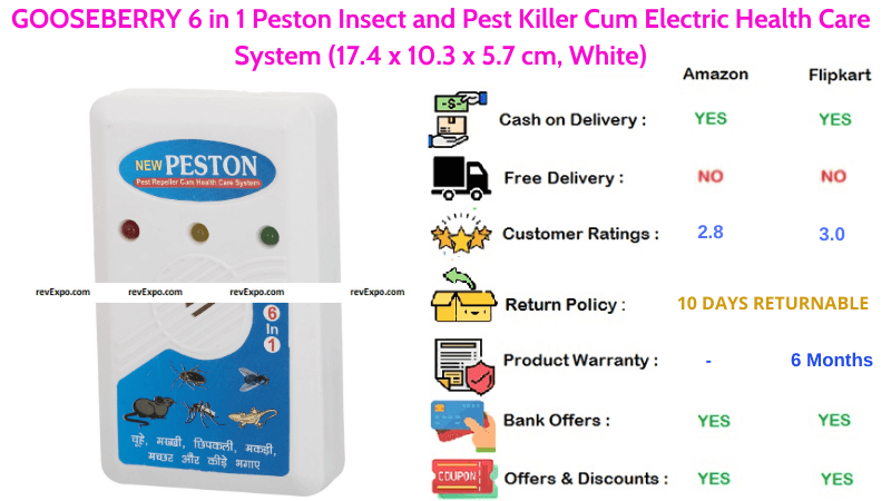 GOOSEBERRY Peston 6 in 1 Insect & Pest Killer Cum Electric Health Care System