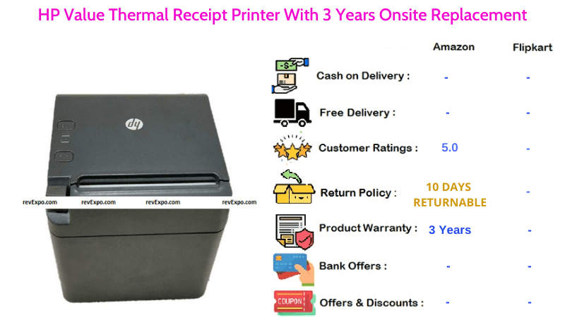 HP Value Thermal Printer With 3 Years Onsite Replacement Warranty