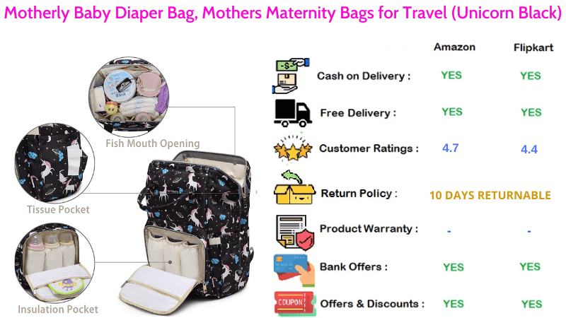 Motherly Diaper Bag Travel Maternity Bags for Mothers