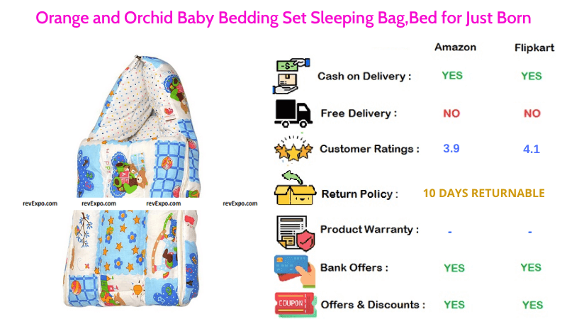 Orange and Orchid Baby Sleeping Bag & Bedding Set Just Born
