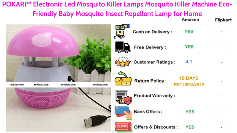 POKARI Mosquito Killer Machine with Electronic Led Eco-Friendly Baby Mosquito Insect Repellent Lamp for Home